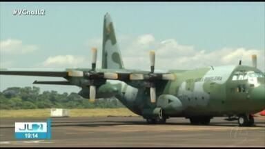 Combate aos incêndios ganha reforço da FAB em Parauapebas - Trabalho conta com aeronave capaz de despejar milhares de litros de água sobre focos de queimada.