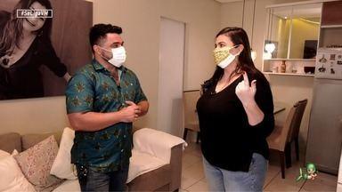 Dan Viana bate um papo descontraído com Morgana Camila - A influencer abre a sua casa para receber o Se Liga VM.