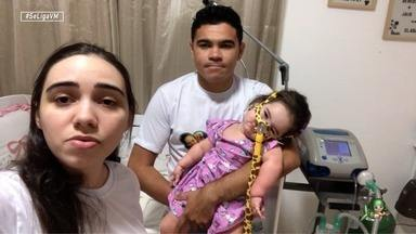 Os pais da bebê Clarinha contam sobre a história da filha - Luciano Huck lança a campanha do Criança Esperança e família cearense conta sobre a trajetória da filha.