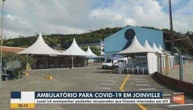 Ambulatório para Covid-19 em Joinville é montado para acompanhar pacientes - Ambulatório para Covid-19 em Joinville é montado para acompanhar pacientes