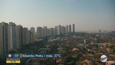 Ribeirão Preto pode registrar temperatura de 37ºC nesta segunda-feira - Cidade segue com previsão de tempo seco sem expectativa de chuva.
