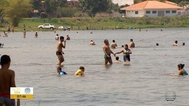 Represa em Martinópolis fica lotada durante fim de semana - Foi montada uma barreira sanitária com blitz educativa e fiscalizações.