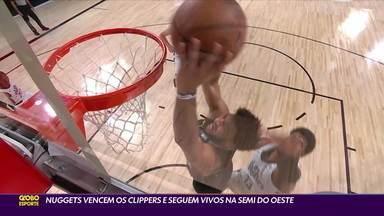 Nuggets vencem os Clippers e seguem vivos na semifinal da conferência oeste - Nuggets vencem os Clippers e seguem vivos na semifinal da conferência oeste