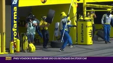Stock Car teve pneu voador e Rubinho líder - Stock Car teve pneu voador e Rubinho líder