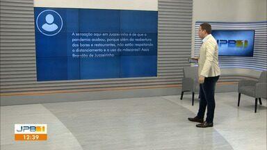 Telespectadores participam do JPB1 - Público envia comentários para o telejornal.