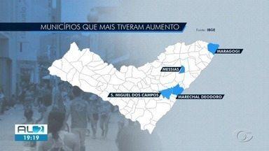 Aumento populacional em AL deve ser de 14 mil habitantes, segundo IBGE - Paripueira foi uma das cidades que tiveram alta percentual.