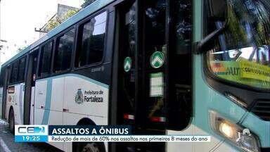 Assaltos a ônibus reduzem mais de 60% na capital - Saiba mais no g1.com.br/ce