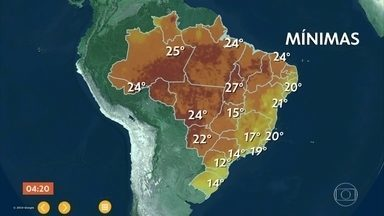 Previsão alerta para temporais com granizo e ventania no RS - Ar seco volta a ganhar foça no Sudeste.