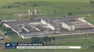 A partir desta quarta (16) presos da Papuda podem receber visitas - Visitas estavam suspensas desde 12 de março. Também foram autorizadas as saídas para trabalho externo, saídas temporárias e saídas quinzenais.