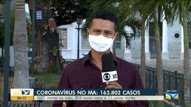 Maranhão já registrou 3.601 mortes pela Covid-19 desde o início da pandemia - Segundo a Secretaria de Estado da Saúde, nessa terça-feira (15), foram registradas 11 novas mortes pela doença.