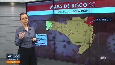 Região Nordeste é a única com risco gravíssimo para Covid-19 - Região Nordeste é a única com risco gravíssimo para Covid-19