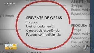 Confira algumas vagas de emprego oferecidas em Salvador nesta quarta-feira - Postos intermitentes de trabalho têm ganhado destaque no trabalho. Saiba mais sobre este tipo de contratação.