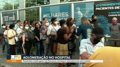Pacientes enfrentam longas filas para marcar consulta com oftalmologista em Caxias - Muita gente chega de madrugada