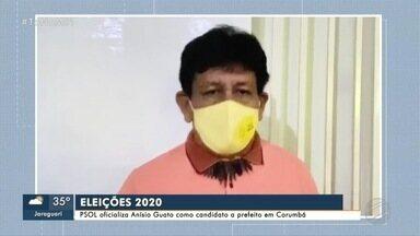 PSOL oficializa Anísio Guato como candidato a prefeito em Corumbá - MS1