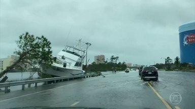 Furacão Sally provoca alagamentos imensos na Flórida e no Alabama - O furacão Sally tocou o solo dos EUA com intensidade dois, mas já foi rebaixado à categoria de tempestade tropical. Mesmo assim, causou estragos na Flórida e no Alabama.