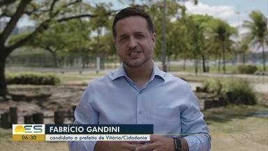 Cidadania oficializa candidatura de Fabrício Gandini à Prefeitura de Vitória - Veja a seguir.