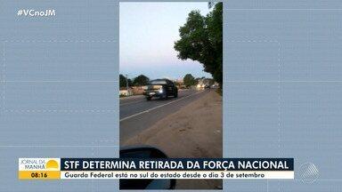 STF estabelece que tropas da Força Nacional sejam retiradas de municípios do sul da Bahia - Homens estão nas cidades de Mucuri e Prado.