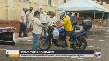 Drive-thru solidário arrecada alimentos, produtos de limpeza e higiene em São Carlos - Ação ocorre na Avenida Trabalhador Sãocarlense, entre as Ruas Alexandrina e Episcopal e na Estação Ferroviária.