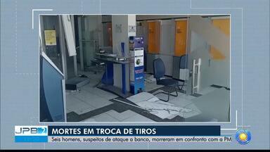 Seis suspeitos de explosão à banco morrem em confronto com a polícia, no Sertão da PB - Eles estavam envolvidos na explosão ao banco de Coremas