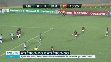 Atlético-MG enfrenta Atlético Goianiense - Jogo vai ser marcante para o zagueiro Réver, que fez o primeiro gol dele no Galo contra o Atlético Goianiense.