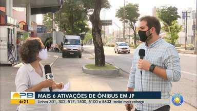 Seis linhas de ônibus são ativadas em João Pessoa - Linhas a mais farão reforço do transporte público