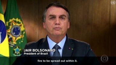 Especialistas divergem de falas do presidente sobre queimadas no Brasil - Em discurso na ONU, Bolsonaro disse que os incêndios no Brasil, por exemplo, estariam acontecendo apenas nas margens das florestas e que os responsáveis seriam os indígenas e os caboclos.