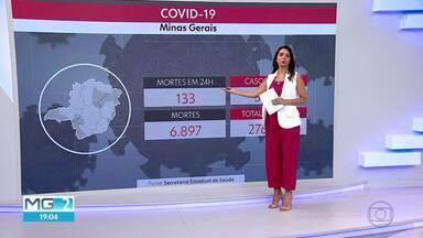 Média móvel de mortes por Covid-19 se mantém estável - O boletim epidemiológico, do governo do estado, registrou 133 novas mortes pelo coronavírus em Minas Gerais. Até o momento, a doença provocou 6.987 óbitos.