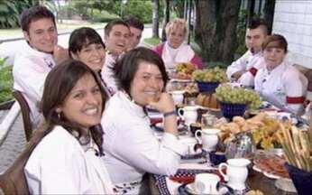 Chefs tomam café com Ana Maria - A apresentadora aproveitou para conhecer melhor os candidatos.