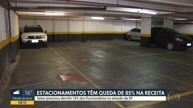 Pandemia derruba receita dos estacionamentos de São Paulo - Faturamento caiu 85%, e o setor precisou demitir 13% dos funcionários.