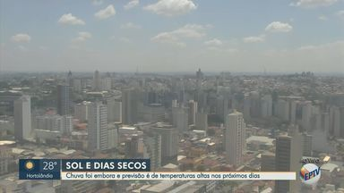 Previsão do tempo mostra temperaturas altas nos próximos dias na região - A máxima prevista para Campinas (SP) é de 27ºC nesta quinta-feira (24).