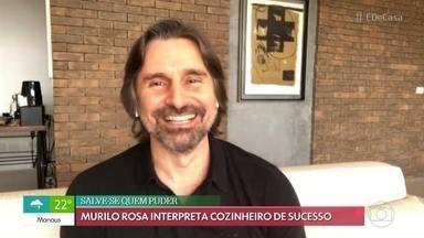 Murilo Rosa pede ajuda para recuperar parede verde - O ator interpreta cozinheiro de sucesso em 'Salve-se Quem Puder'