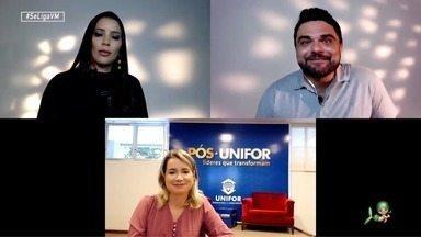 Niara e Dan conversam com a professora Beatriz Rosa sobre a graduação na UNIFOR - A professora Beatriz Rosa fala sobre todas as novidades e a importância da pós graduação na UNIFOR
