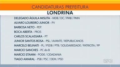 Veja quais são os candidatos à prefeitura de Londrina - Preparamos uma lista com o nome dos candidatos que registraram candidatura.