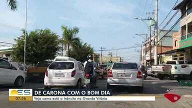 Veja as informações sobre o trânsito na Grande Vitória - O repórter Kaique Dias percorreu as ruas nesta manhã.