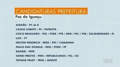Foz do Iguaçu tem nove candidatos a prefeito - Candidatos a vereador são 359.