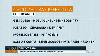 Confira os candidatos à prefeitura de Pato Branco - São quatro candidatos.