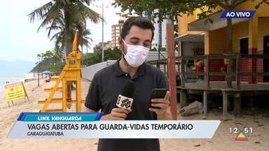 Vagas abertas para guarda-vidas temporário em Caraguá - Veja como fazer para se inscrever.