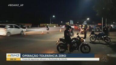 Operação Tolerância Zero reforça fiscalização no trânsito do AP - Forças de segurança impediram um racha e apreenderam um simulacro de arma de fogo durante a ação.