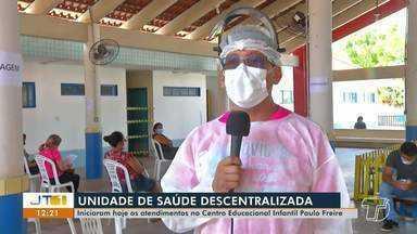 Unidade Descentralizada começa a atender pacientes na Cemei Paulo Freire - Unidade atende pessoas com síndromes gripais.