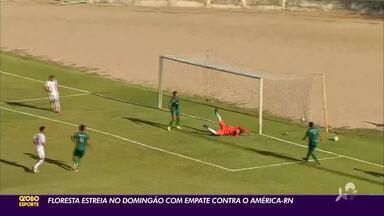 Floresta estreia no Domingão com empate com América-RN - Floresta estreia no Domingão com empate com América-RN