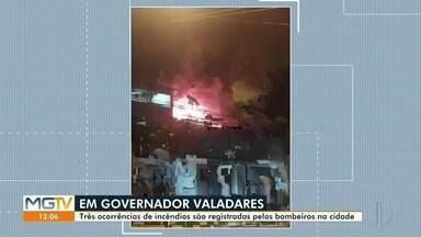Fim de semana é registrado por incêndios em Governador Valadares - Só nesse domingo, o Corpo de Bombeiros atendeu a três chamados.