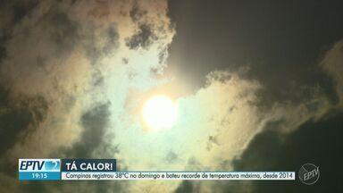 Com 38ºC, Campinas registra maior temperatura do ano e entra em estado de alerta - Neste ano, o recorde de calor na cidade foi ainda durante o inverno, no dia 12 de setembro, com registro de 35,6ºC.