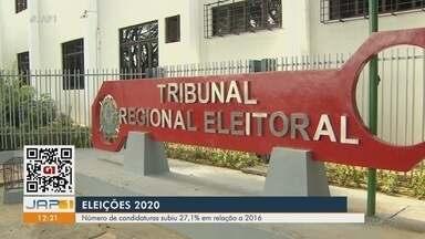No Amapá, número de candidaturas nas Eleições 2020 subiu 27,1% em relação a 2016 - No Amapá, número de candidaturas nas Eleições 2020 subiu 27,1% em relação a 2016