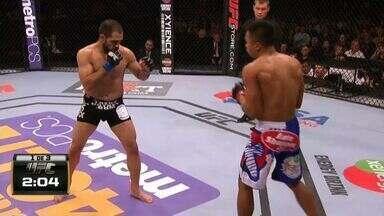 UFC Bader x St. Preux - Nolan Ticman x Frankie Saenz - Luta entre Nolan Ticman (US) x Frankie Saenz (US), válida pelo UFC Bader x St. Preux - Peso Pena, em 16/08/2014.