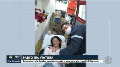 Bombeiros de Sorriso realizam parto a caminho do Hospital Regional de Sorriso - Bombeiros de Sorriso realizam parto a caminho do Hospital Regional de Sorriso