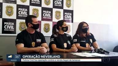 Polícia Civil faz operação em Santa Luzia contra venda ilegal de terrenos - Funcionários públicos e ex-servidores da Prefeitura podem estar envolvidos no esquema.
