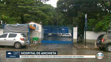 Hospital Estadual Anchieta reabre para receber pacientes com Covid-19 - Funcionários que trabalharam na linha de frente e foram demitidos receberam, com surpresa, a notícia da reabertura da unidade. Eles dizem que continuam sem receber.