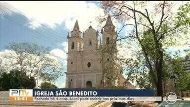 Igreja São Benedito está pronta para abrir após 4 anos fechada - Igreja São Benedito está pronta para abrir após 4 anos fechada