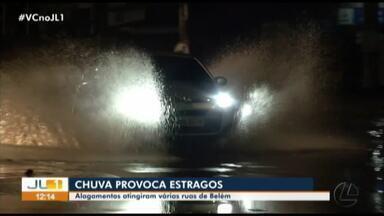 Chuvas fortes causam estragos em Belém, Altamira e Paragominas - Moradores tiveram prejuízos e ruas ficaram alagadas.