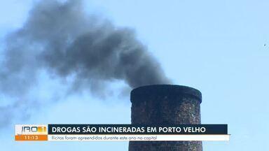 Drogas são incineradas em Porto Velho - Ilícitos foram apreendidos durante este ano na capital.
